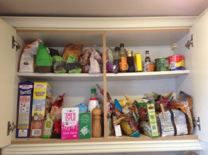 My messy cupboards...eek!