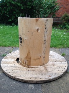 It's all about the base, but how to keep all the bits upright while we fit a large heavy top onto it?