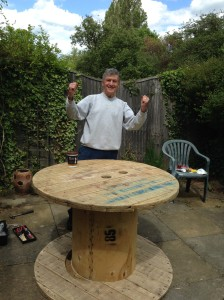 And we have a lovely upcycled reel table and have enjoyed some father daughter bonding!